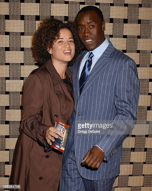 Don Cheadle and Bridgid Coulter during Hotel Rwanda Los Angeles Premiere Arrivals at Academy Theatre in Beverly Hills California United States