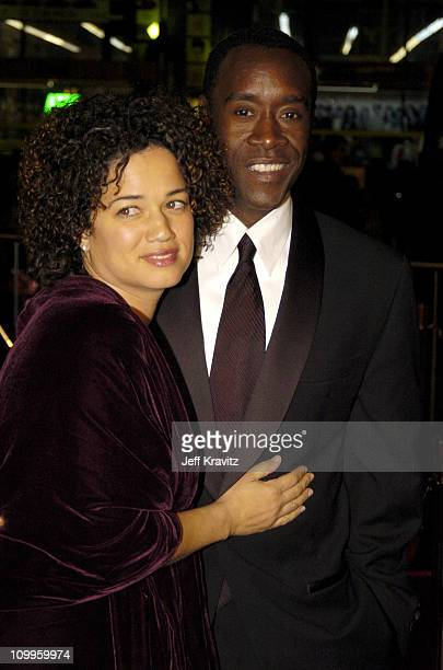 Don Cheadle and Bridgid Coulter during Ocean's Twelve Los Angeles Premiere Arrivals at Grauman's Chineese Theater in Los Angeles California United...
