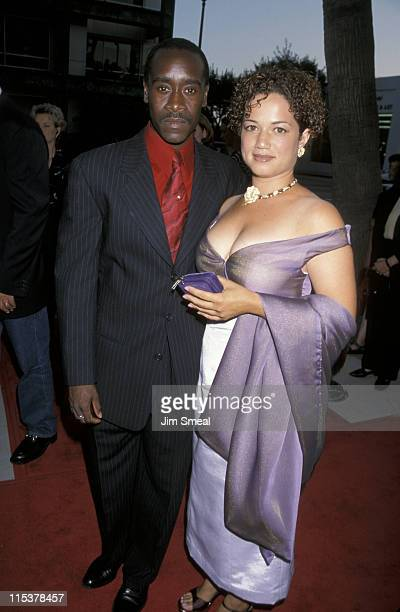 Don Cheadle and Bridgid Coulter during Premiere of HBO's The Rat Pack at Academy Theater in Beverly Hills California United States