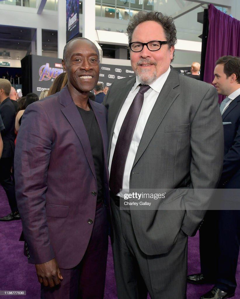 Don Cheadle And Executive Producer Jon Favreau Attend The Los