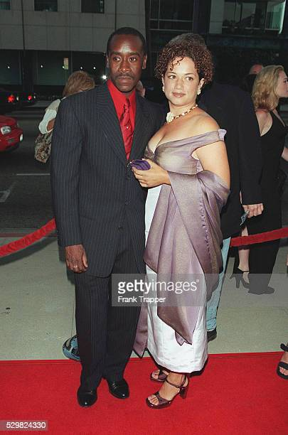 Don Cheadle and his wife arrive at the Samuel Goldwyn Theater