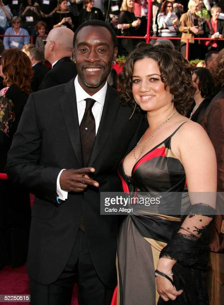 Don Cheadle and his wife Bridgid Coulter arrive for the 77th Annual Academy Awards at the Kodak Theater on February 27 2005 in Hollywood California