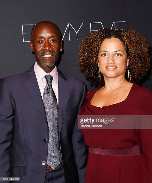 Don Cheadle and his wife Bridgid Coulter attend Showtime's 2014 'EmmyEve Soiree' at Sunset Tower on August 24 2014 in West Hollywood California