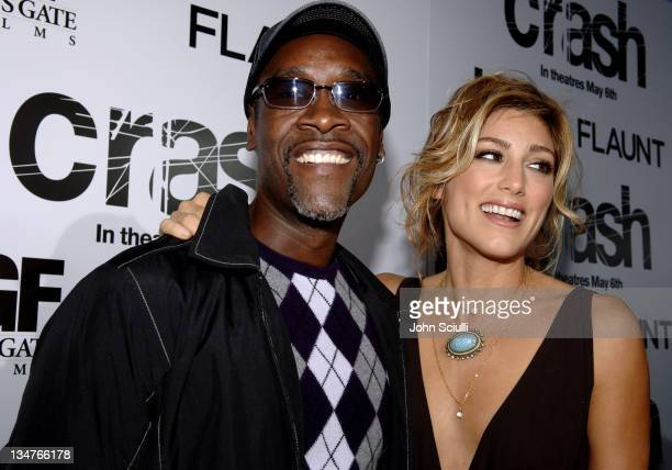 Don Cheadle and Jennifer Esposito during Crash Los Angeles Premiere Red Carpet at The Academy of Motion Picture Arts and Sciences in Los Angeles...
