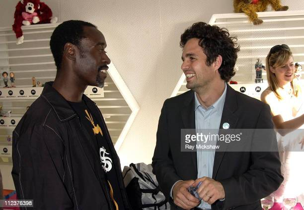 Don Cheadle and Mark Ruffalo during Motorola Suite at the 18th Annual IFP Independent Spirit Awards at Santa Monica Beach in Santa Monica California...