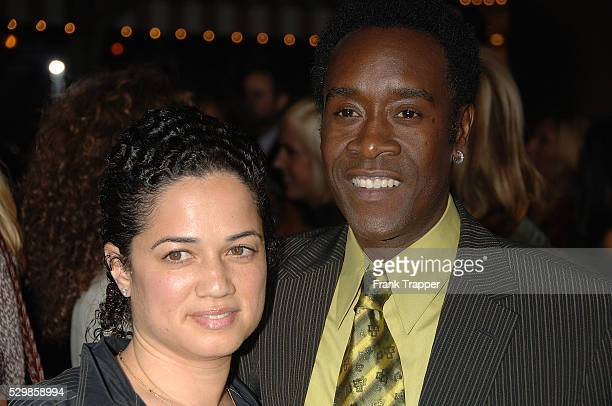 Don Cheadle and wife arrive at the premiere of Columbia Pictures' Stranger Than Fiction held at Mann Village Theater in Westwood