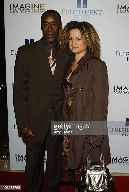 Don Cheadle and wife Bridget during Fulfillment Fund Honors Brian Grazer at Annual Stars 2005 Benefit Gala at Beverly Hilton Hotel in Beverly Hills...
