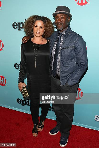 Don Cheadle and wife Bridgid Coulter attend the Showtime celebration of the allnew seasons of 'Shameless' 'House Of Lies' And 'Episodes' at Cecconi's...