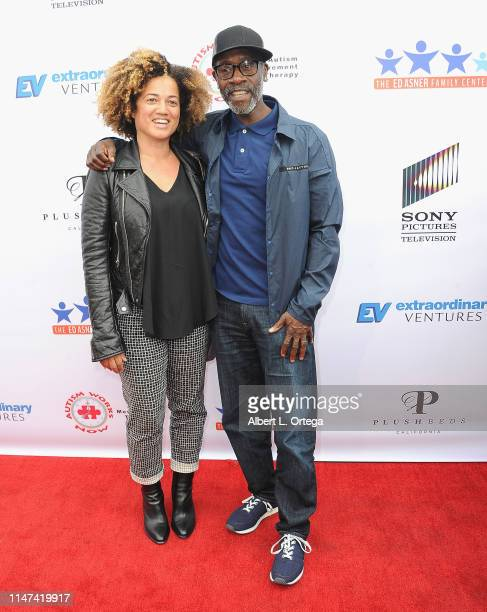 Don Cheadle and wife Brigid Coulter arrives for the 7th Annual Ed Asner And Friends Poker Tournament Celebrity Night held at CBS Studios Radford on...