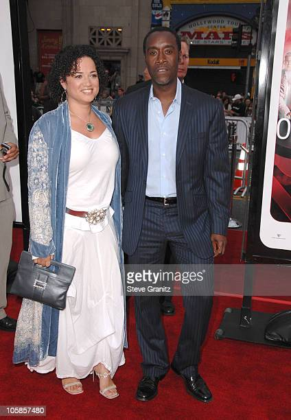 Don Cheadle and Wife during Ocean's Thirteen Los Angeles Premiere Arrivals at Grauman's Chinese Theater in Los Angeles California United States