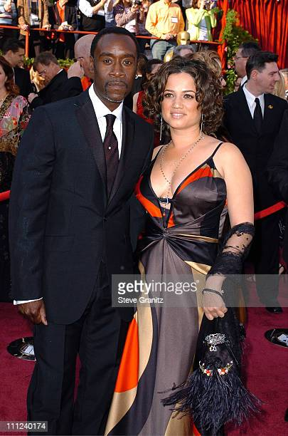 Don Cheadle and wife during The 77th Annual Academy Awards Arrivals at Kodak Theatre in Hollywood California United States