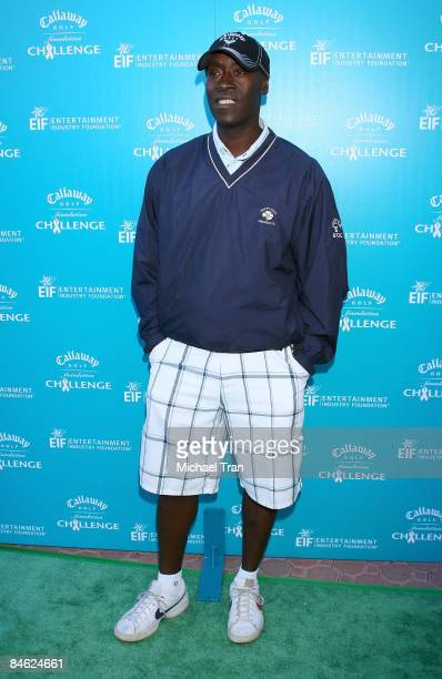 Don Cheadle arrives to the Callaway Golf Foundation ProCelebrity Golf Tournament benefitting EIF held at the Riviera Country Club on February 2 2009...