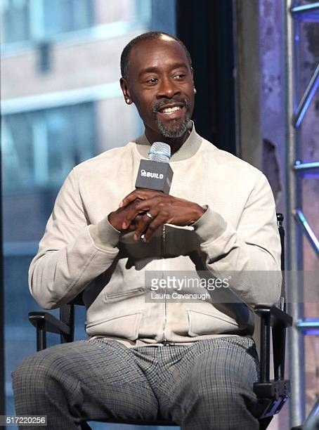 Don Cheadle attends AOL Build Speaker Series to discuss his Directorial debut in 'Miles Ahead' at AOL Studios in New York on March 24 2016 in New...
