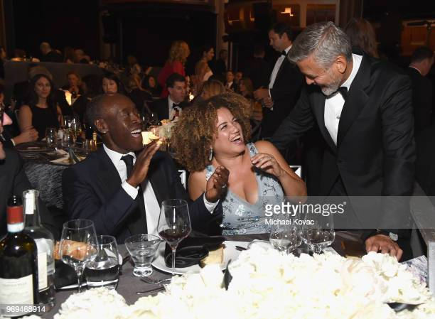 Don Cheadle Bridgid Coulter and George Clooney attend the American Film Institute's 46th Life Achievement Award Gala Tribute to George Clooney at...