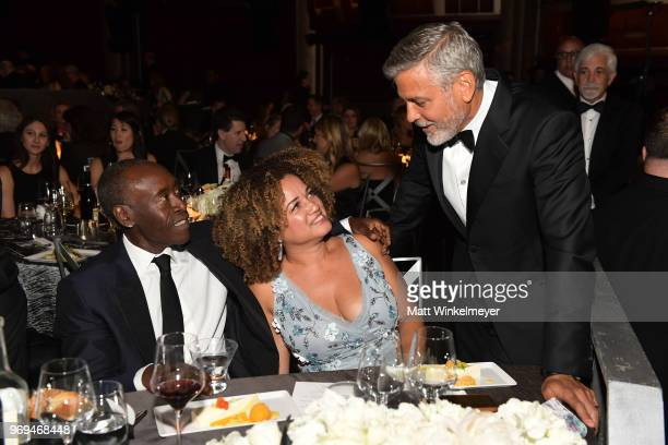 Don Cheadle Bridgid Coulter and honoree George Clooney attend the American Film Institute's 46th Life Achievement Award Gala Tribute to George...