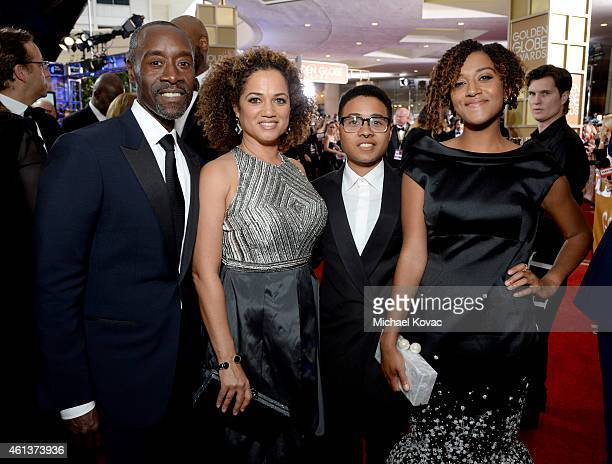 Don Cheadle Bridgid Coulter Ayana Tai Cheadle and Imani Cheadle attend the 72nd Annual Golden Globe Awards at The Beverly Hilton Hotel on January 11...