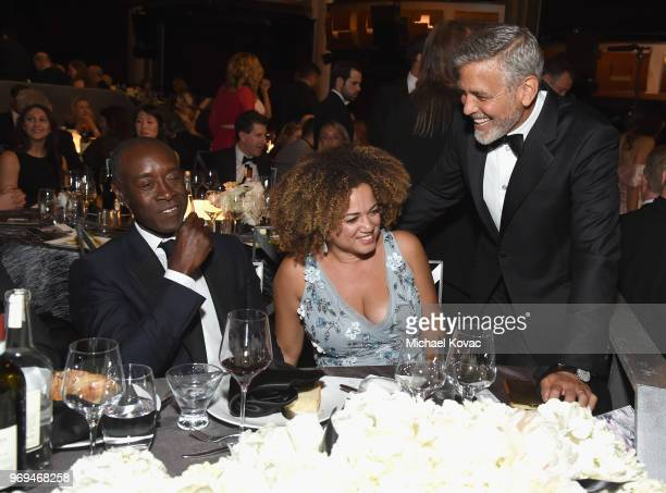 Don Cheadle Bridgid Coulter George Clooney attend the American Film Institute's 46th Life Achievement Award Gala Tribute to George Clooney at Dolby...