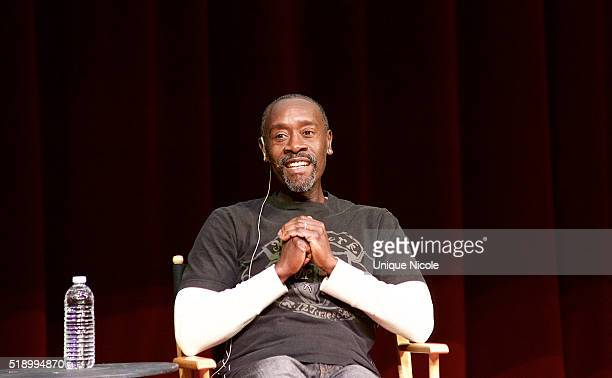 Don Cheadle discusses his new movie 'Miles Ahead' during Live Talks LA Presents An Evening With Don Cheadle at Moss Theatre at New Roads School on...