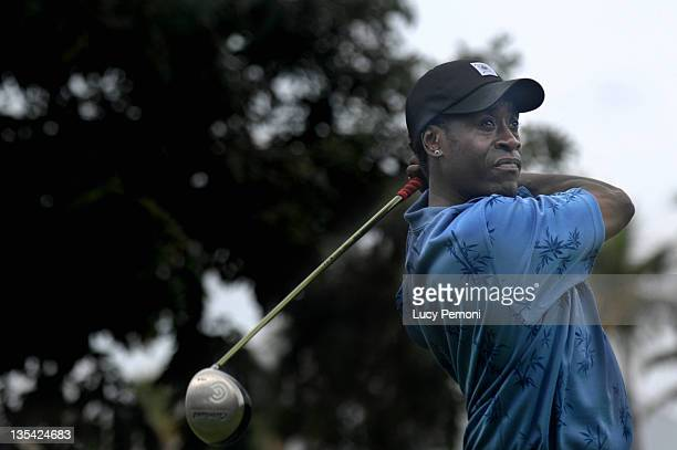 Don Cheadle during 2007 Sony Open ProAm January 10 2007 at Waialae Country Club in Honolulu Hawaii United States
