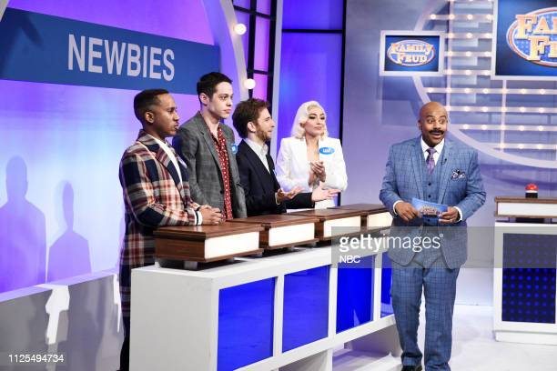 LIVE Don Cheadle Episode 1759 Pictured Chris Redd as Mahershala Ali Pete Davidson as Rami Malek Kyle Mooney as Bradley Cooper Melissa Villaseñor as...