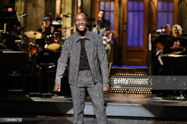 LIVE Don Cheadle Episode 1759 Pictured Host Don Cheadle during the Monologue on Saturday February 16 2019