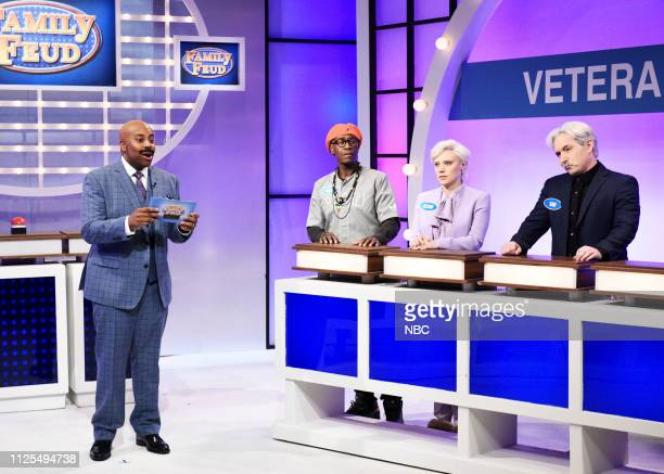 LIVE Don Cheadle Episode 1759 Pictured Kenan Thompson as Steve Harvey host Don Cheadle as Spike Lee Kate McKinnon as Glenn Close and Beck Bennett as...