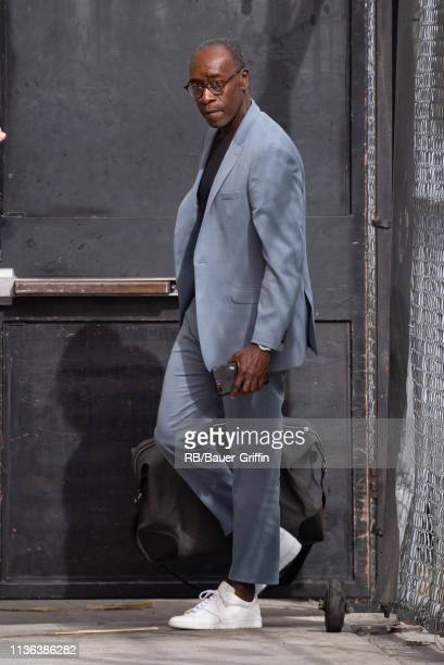 Don Cheadle is seen at 'Jimmy Kimmel Live' on April 11 2019 in Los Angeles California