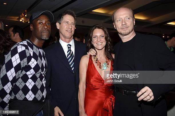 Don Cheadle, Jon Feltheimer, CEO of Lions Gate Entertainment, Cathy Schulman and Paul Haggis, director