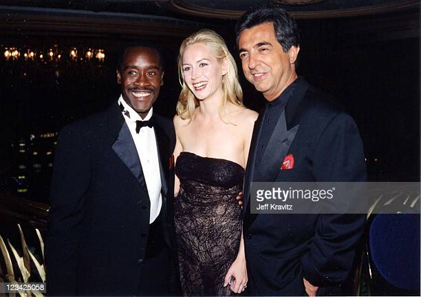 Don Cheadle Megan Dodds Joe Mantegna at the 1998 premiere of the Rat Pack in Los Angeles