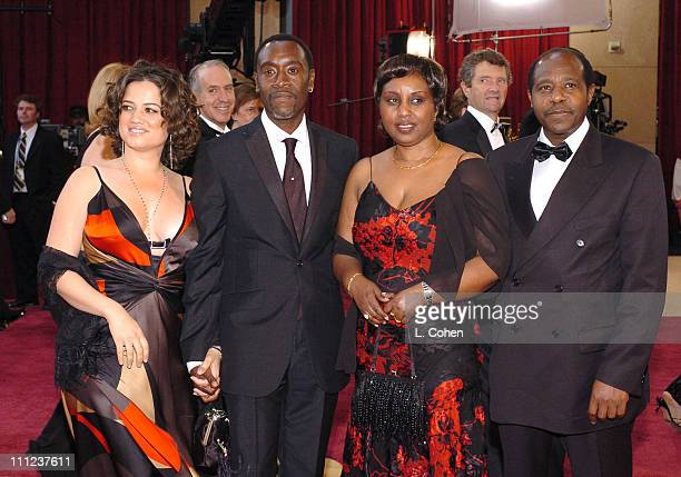 Don Cheadle nominee Best Actor in a Leading Role for Hotel Rwanda with Bridgid Coulter Paul Rusesabagina and wife Tatiana