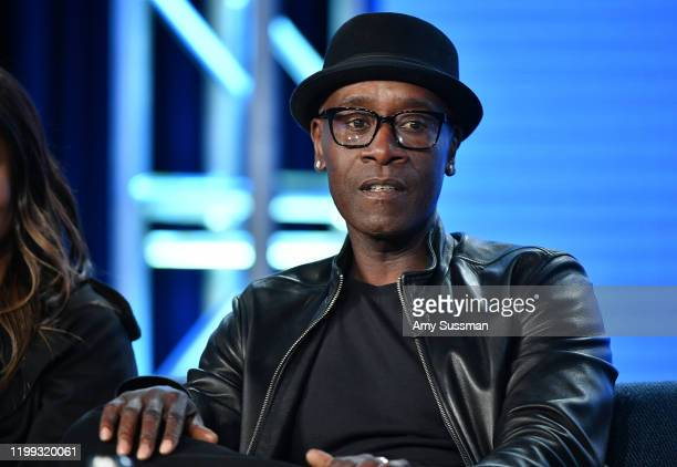 """Don Cheadle of """"Black Monday"""" speaks during the Showtime segment of the 2020 Winter TCA Press Tour at The Langham Huntington, Pasadena on January 13,..."""
