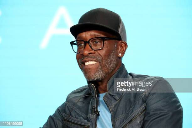 Don Cheadle of the television show 'Black Monday' speaks during the Showtime segment of the 2019 Winter Television Critics Association Press Tour at...