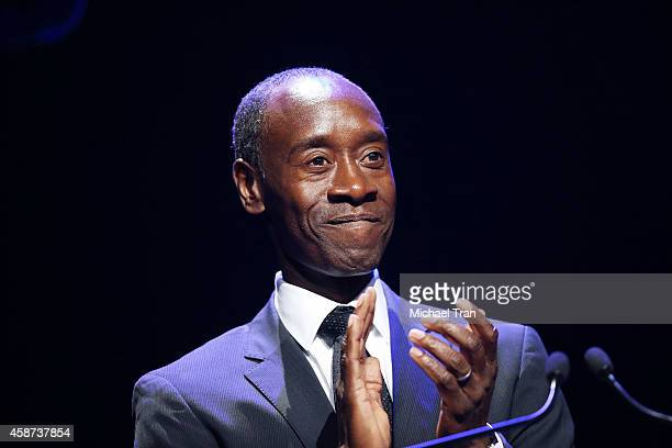 Don Cheadle speaks onstage during The Thelonius Monk Jazz Trumpet Competition and All Star Gala concert held at Dolby Theatre on November 9 2014 in...