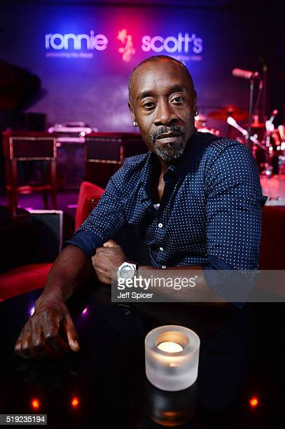 Don Cheadle who directs and stars as Miles Davis in the forthcoming film Miles Ahead at Ronnie Scott's Jazz Club on April 5 2016 in London England