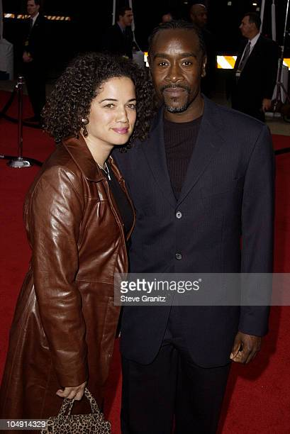 Don Cheadle wife arrive at the 28th Annual People's Choice Awards at the Pasadena Civic Auditorium in Pasadena California