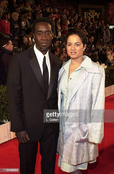 Don Cheadle Wife during 2001 ESPY Awards at MGM Grand Arena in Las Vegas Nevada United States