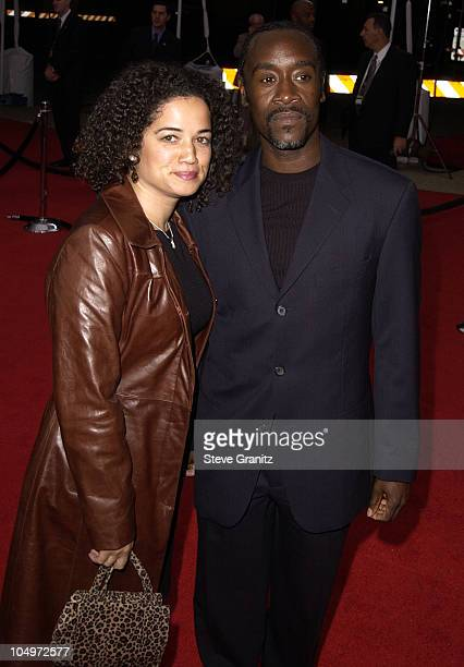Don Cheadle wife during 28th Annual People's Choice Awards Arrivals at Pasadena Civic Auditorium in Pasadena California United States