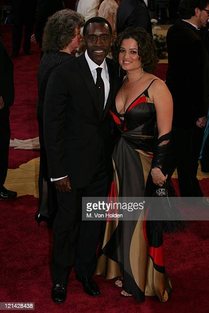 Don Cheadle Wife during 77th Annual Academy Awards arrivals at Kodak Theater in Los Angeles California United States