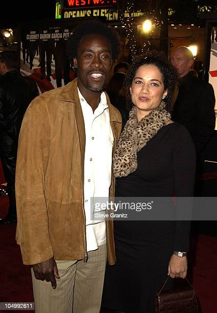 Don Cheadle Wife during World Premiere of Ocean's Eleven at Mann's Village Theatre in Westwood California United States