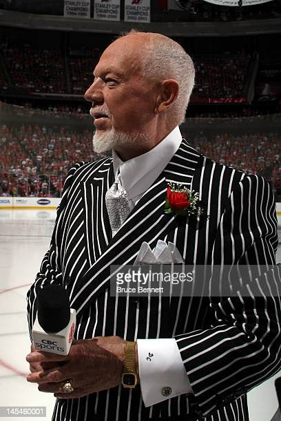 Don Cherry looks on prior to Game One of the 2012 NHL Stanley Cup Final between the Los Angeles Kings and New Jersey Devils at the Prudential Center...