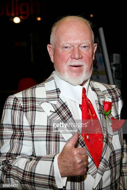 Don Cherry meets with fans and signs autographs to celebrate his new DVD release 'Don Cherry's Rock'em Sock'em Hockey' at the Waterfall Stage First...