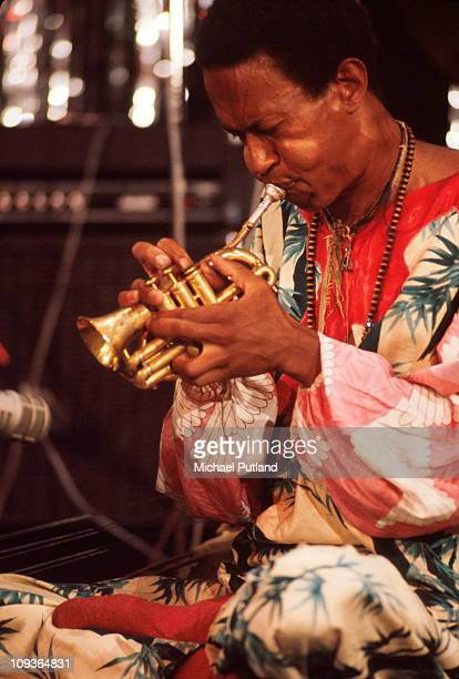 Don Cherry performs on stage at Montreux Jazz Festival 1977