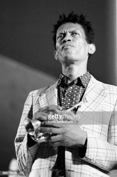 Don Cherry performs with trumpet live on stage at the North Sea Jazz Festival in the Hague, Netherlands on July 15 1987
