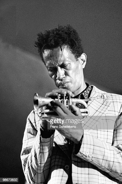 Don Cherry performs with trumpet live on stage at the North Sea Jazz Festival in the Hague Netherlands on July 15 1987