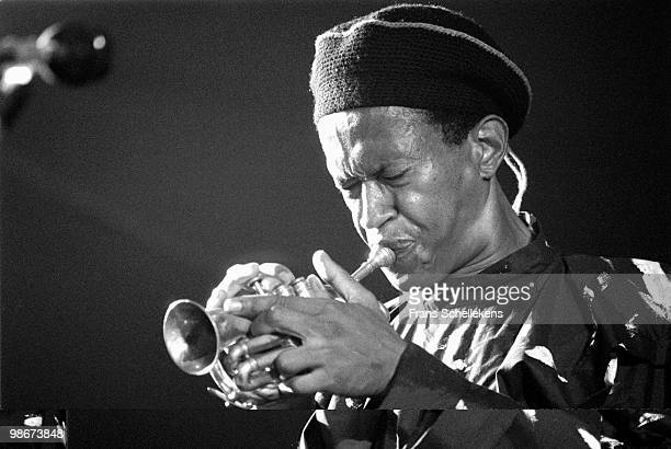 Don Cherry plays the pocket trumpet live on stage at the North Sea Jazz Festival in The Hague, Holland on July 10 1984