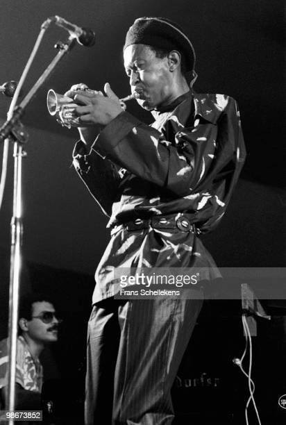 Don Cherry plays the pocket trumpet live on stage at the North Sea Jazz Festival in The Hague Holland on July 12 1984