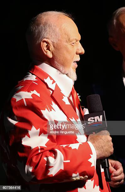 Don Cherry prior to Team Canada taking on Team Czech Republic during the World Cup of Hockey 2016 at Air Canada Centre on September 17 2016 in...