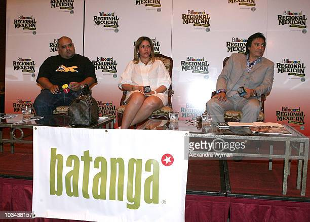Don Cheto Rocio Sandoval and Renan Almendarez Coello participate in the panel discussion on DJ Power during the Billboard Regional Mexican Music...
