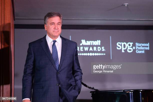 Don Cleary President Marriott Hotels of Canada attends the celebration of Marriott International's announcement of their Unified Loyalty Program on...