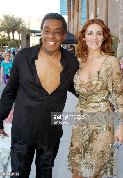 Don Cornelius and guest during VH1 Divas Duets A Concert to Benefit the VH1 Save the Music Foundation Arrivals at MGM Grand in Las Vegas CA United...